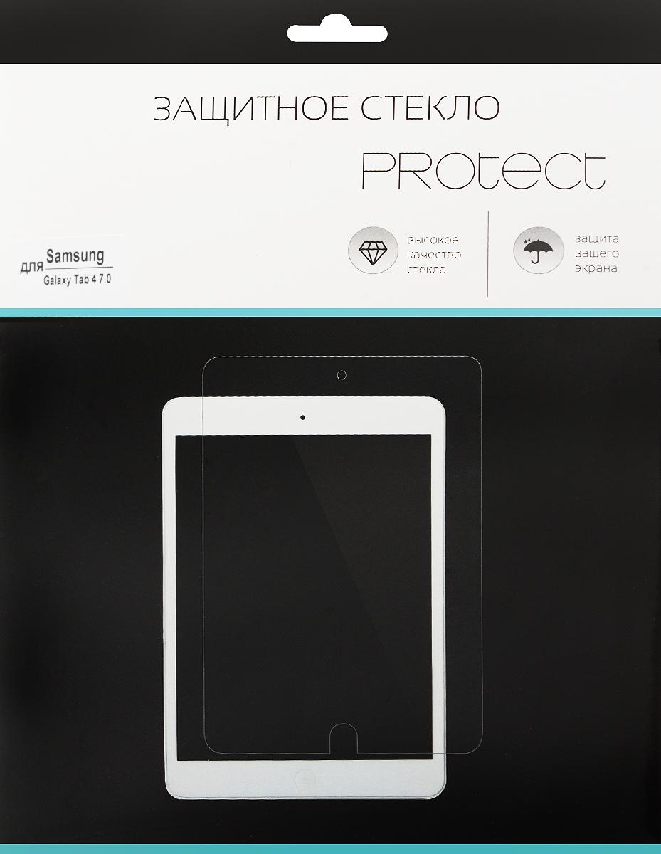 LuxCase Protect защитное стекло для Samsung Galaxy Tab 4 7.0, суперпрозрачное40036Защитное стекло LuxCase Protect для Samsung Galaxy Tab 4 7.0 обеспечивает надежную защиту сенсорного экрана устройства от большинства механических повреждений и сохраняет первоначальный вид дисплея, его цветопередачу и управляемость. В случае падения стекло амортизирует удар, позволяя сохранить экран целым и избежать дорогостоящего ремонта. Стекло обладает особой структурой, которая держится на экране без клея и сохраняет его чистым после удаления.