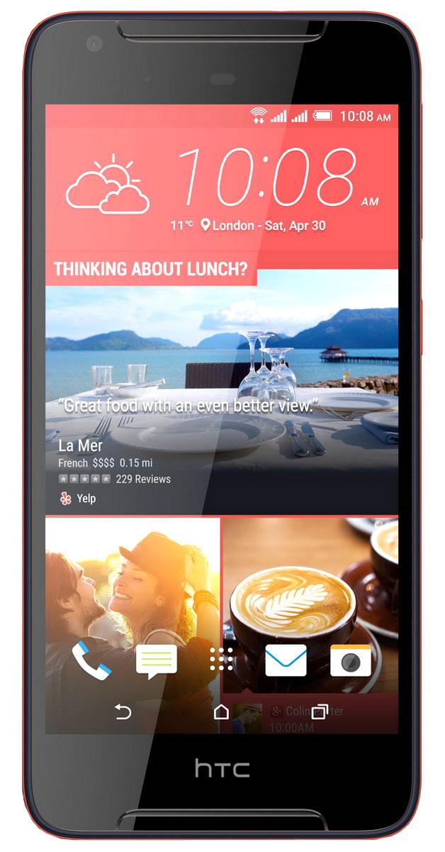 HTC Desire 628 DS, Sunset BlueHTC-99HAJZ032-00Задача обратить на себя внимание еще никогда не решалась настолько просто. HTC Desire 628 DS - это контрастное сочетание цветов корпуса и отличный дизайн, которые точно не останутся незамеченными. Начинка смартфона тоже поражает: отличные основная и фронтальная камеры, четкий HD экран, звук с эффектом погружения и профиль громкого звука HTC BoomSound. HTC Desire 628 DS разрушает стереотипы: в отделке корпуса сочетаются яркие высококонтрастные цвета, а фронтальная часть полностью покрыта стеклом, плавно переходящим в боковую грань, что оставляет ощущение завершенности и лаконичности. HTC Desire 628 DS - это не только яркий привлекательный дизайн. С помощью приложения HTC Темы можно оформить рабочий экран смартфона в своем вкусе. Меняй форму и размер иконок, шрифт, мелодии звонка и обои – теперь все в твоих руках! Для оформления можно выбрать одну из сотен готовых тем или же создать свою собственную тему на основе понравившейся тебе фотографии. ...