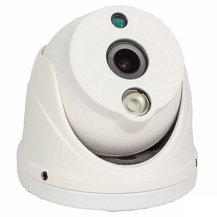 Falcon Eye FE-ID720AHD/10M уличная купольная видеокамераFE-ID720AHD/10MНовая уличная сетевая видеокамера Falcon Eye FE-ID720AHD/10M выполнена на CMOS матрице 1/4 Aptina с разрешением 1 мегапиксель. На камере установлен объектив с фиксированным фокусным расстоянием 3,6 мм. Камера выполнена в металлическом корпусе и способна выдавать в сеть видеопоток с разрешением 1280 х 800 эффективных пикселей.