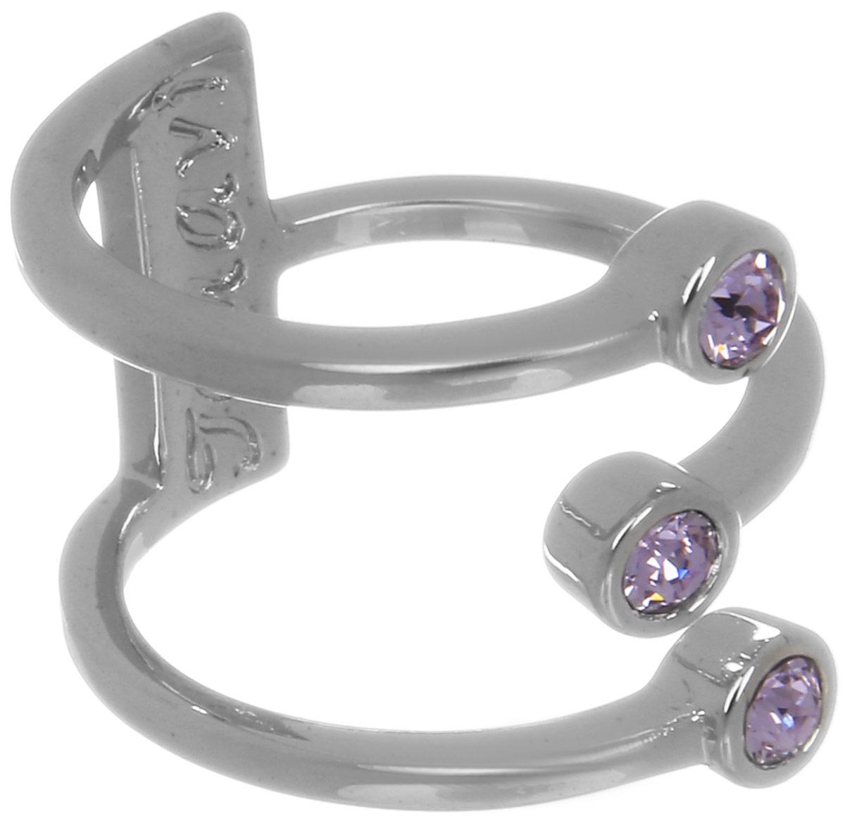 Jenavi, Коллекция Триада, Тримурти (Кольцо), цвет - серебряный, фиолетовый, размер - 18f696f050Коллекция Триада, Тримурти (Кольцо) гипоаллергенный ювелирный сплав,Серебрение c род. , вставка Кристаллы Swarovski , цвет - серебряный, фиолетовый, размер - 18