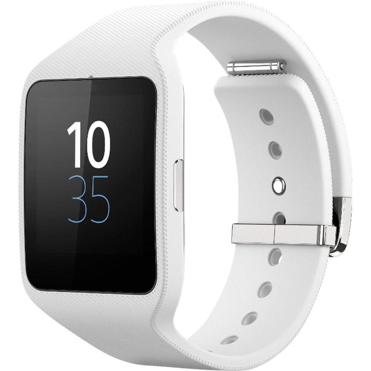 Sony SmartWatch 3 SWR50, White смарт-часыT008380Инновационные часы SmartWatch 3 SWR50 сочетают эффективные технологии с впечатляющим стильным дизайном. Вы легко настроите SmartWatch 3 SWR50 под себя и свой стиль жизни с помощью разнообразных приложений, доступных для загрузки Даже в отдельности от смартфона SmartWatch 3 SWR50 обладает множеством интересных и полезных возможностей. Собрались на пробежку? Двигайтесь в ритме: в ваши умные часы закачать любимые песни, и музыка последует за вами, даже если смартфон останется дома. Всё это время ваши умные часы будут отслеживать вашу физическую активность, а когда вы вернетесь с тренировки на свежем воздухе, эти данные синхронизируются с приложением Lifelog. Умная ОС Android Wear постоянно анализирует текущую ситуацию и тут же предлагает вам полезные сведения, а еще - слушается ваших голосовых команд. Прямо на ходу просматривайте на экране новости, актуальные для вас именно в данный момент. Один взгляд на запястье - и вы знаете, на что следует обратить внимание...