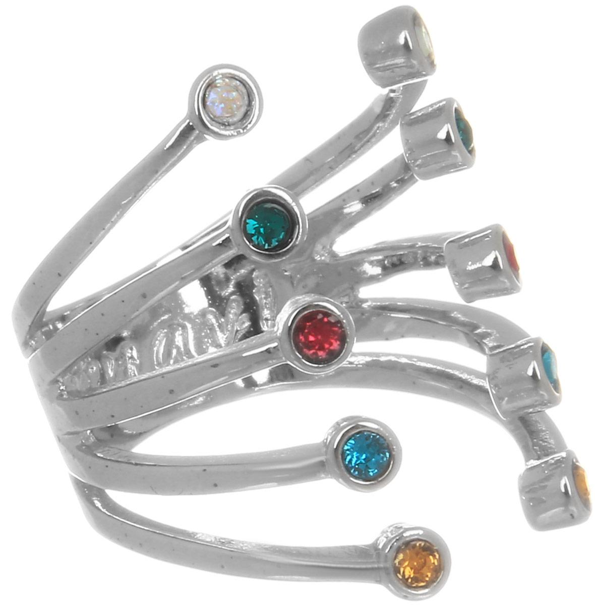 Jenavi, Коллекция Триада, Пурина (Кольцо), цвет - серебряный, мультиколор, размер - 18f694f070Коллекция Триада, Пурина (Кольцо) гипоаллергенный ювелирный сплав,Серебрение c род. , вставка Кристаллы Swarovski , цвет - серебряный, мультиколор, размер - 18