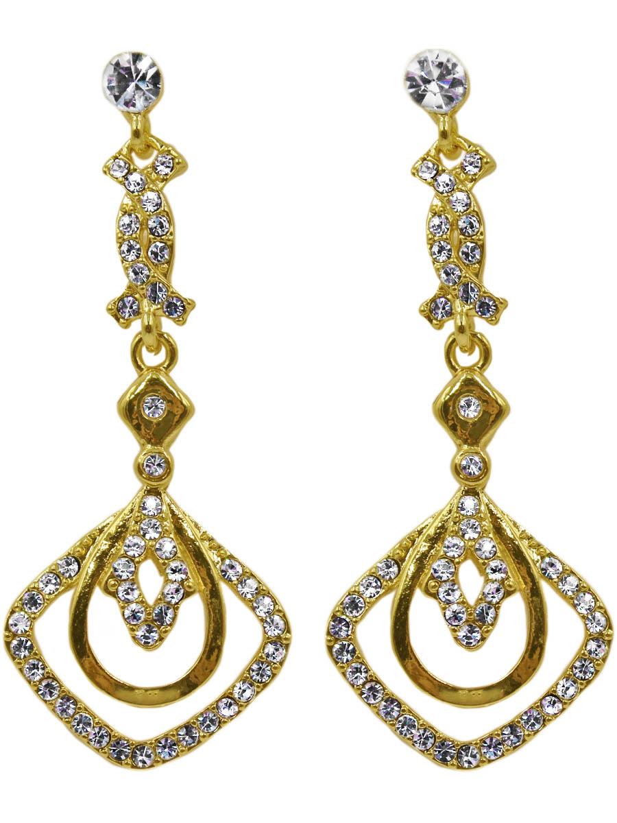 Серьги женские Taya, цвет: золото. T-B-11127-EARR-GOLDT-B-11127-EARR-GOLDСерьги-гвоздики с заглушкой металл-пластик. Нарядные серьги выполнены в классическом золоте с россыпью страз. Размеры: длина серьги 6,1 см, ширина max 2,5 см.