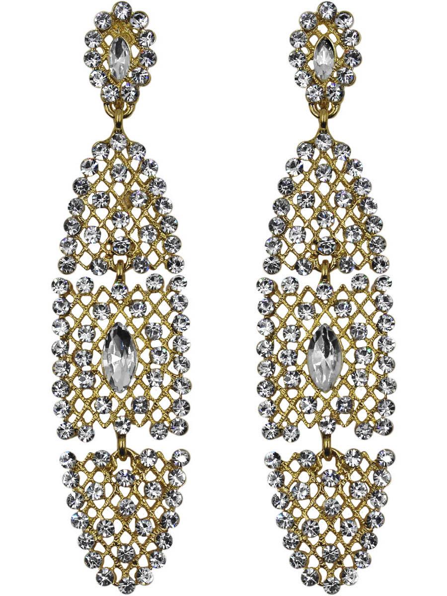 Серьги женские Taya, цвет: золото. T-B-11147-EARR-GOLDT-B-11147-EARR-GOLDСерьги с английским замком, на котором пробит бренд TAYA. По-королевски красивое украшение выглядит дорого и эксклюзивно. Размеры: длина серьги 8,0 см, ширина 2,0 см.