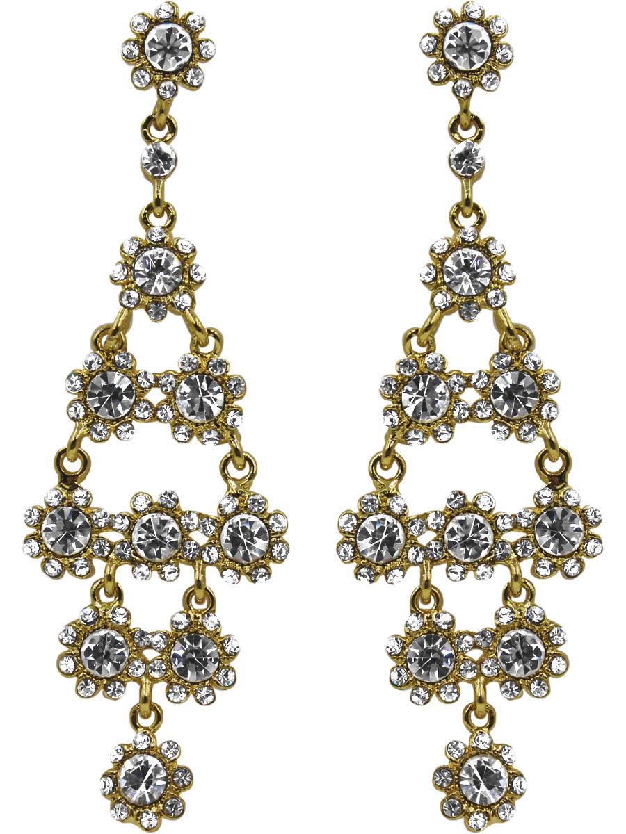 Серьги женские Taya, цвет: золото. T-B-11155-EARR-GOLDT-B-11155-EARR-GOLDСерьги-гвоздики с заглушкой металл-пластик. Достойное украшение на свадьбу: блестящее, сверкающее. Размеры: длина серьги 9,0 см, ширина 2,8 см.
