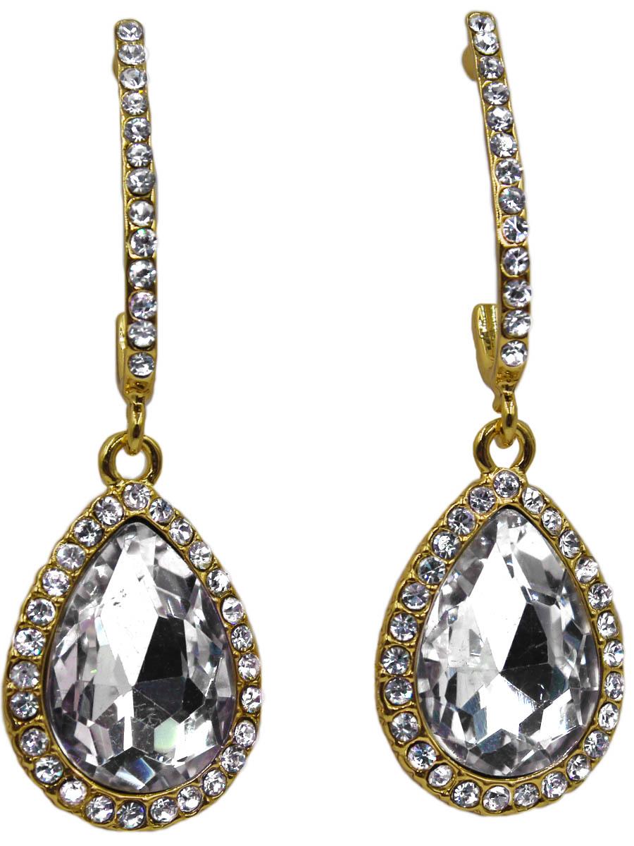 Серьги женские Taya, цвет: золото, прозрачный. T-B-11265-EARR-GL.CLEART-B-11265-EARR-GL.CLEARСерьги-гвоздики с заглушкой металл-пластик. Серьги с каплевидной подвеской с прозрачным как слеза кристаллом. Размеры: длина серьги 3,5 см, ширина 1,3 см.