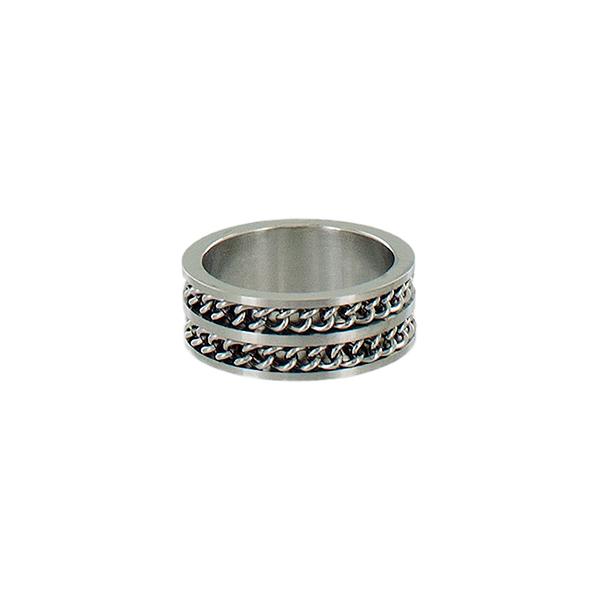 Кольцо мужское Taya, цвет: серебро. T-B-5328-RING-RHODIUMT-B-5328-RING-RHODIUMБрутальное мужское кольцо из легированной стали. Размеры: ширина 1 см