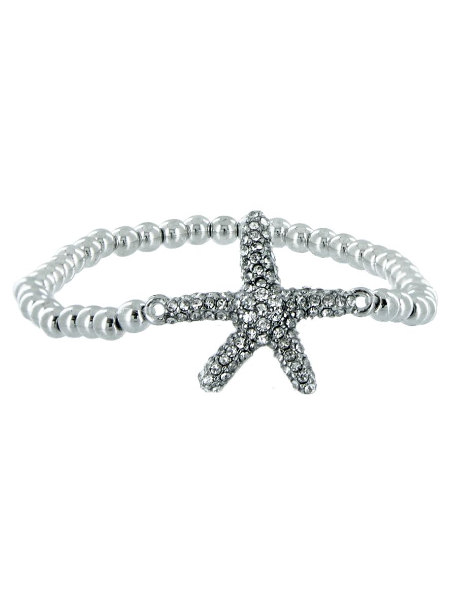 Браслет женский Taya, цвет: серебряный. T-B-5342-BRAC-SILVERT-B-5342-BRAC-SILVERМодный браслет на резинке дополнит повседневный и праздничный образ, подчеркнув достоинства женской ручки.