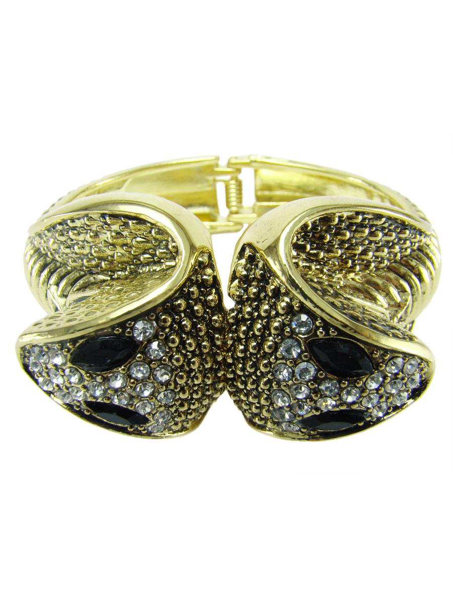 Браслет женский Taya, цвет: золотой. T-B-7061-BRAC-GOLDT-B-7061-BRAC-GOLDБраслет в виде двух змей на пружинке.