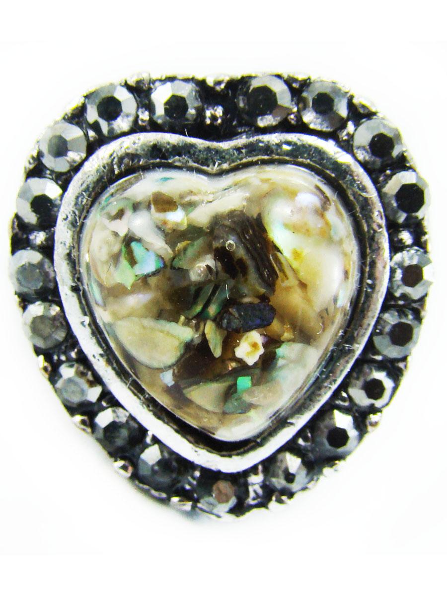 Кольцо женское Taya, цвет: серебро. T-B-8681-RING-BR.MULTIT-B-8681-RING-BR.MULTIНежное кольцо с круглой верхушкой. В центре сердца прозрачный камень с разноцветными вкраплениями, который поражает своими красками и игрой цвета. Заметны медово-коричневые оттенки, а также зеленые и желтые тона. Размеры: верхушка 2*2 см