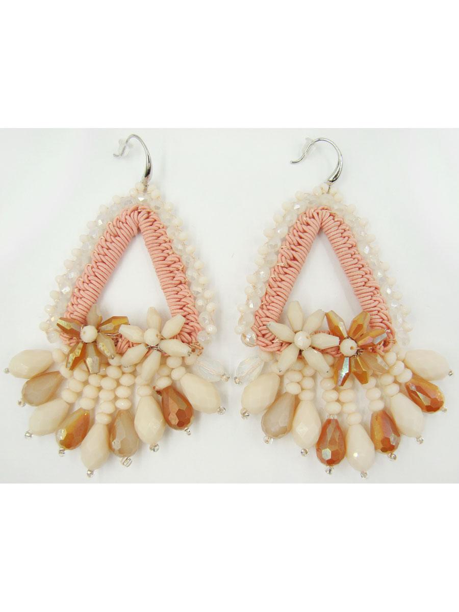Серьги женские Taya, цвет: белый, розовый. T-B-9555-EARR-WH.ROSET-B-9555-EARR-WH.ROSEСерьги с замком-петлёй с силиконовой заглушкой. Размеры: 9,0*4,6 см
