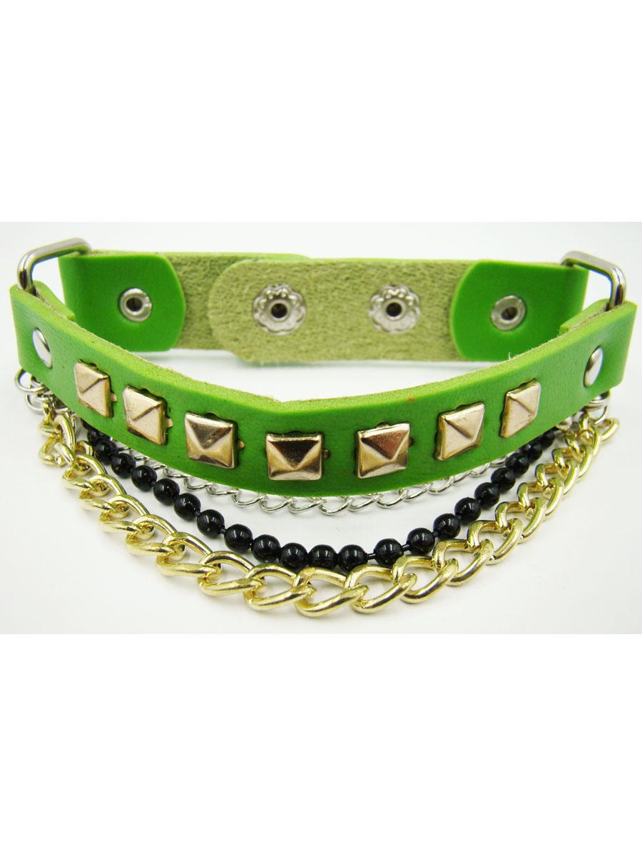 Браслет женский Taya, цвет: светло-зеленый. T-B-9904-BRAC-LT.GREENT-B-9904-BRAC-LT.GREENМодный браслет дополнит повседневный и праздничный образ, подчеркнув достоинства женской ручки. Размеры: 22,5*1,7 см, центр 11,5*1,2 см