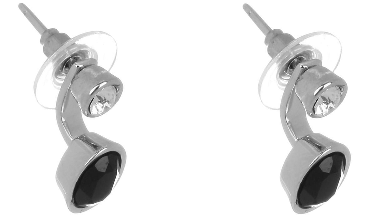 Jenavi, Коллекция Триада, Калидас (Пуссеты), цвет - серебряный, мультиколорf704f806Коллекция Триада, Калидас (Пуссеты) гипоаллергенный ювелирный сплав,Серебрение c род. , вставка Кристаллы Swarovski , цвет - серебряный, мультиколор