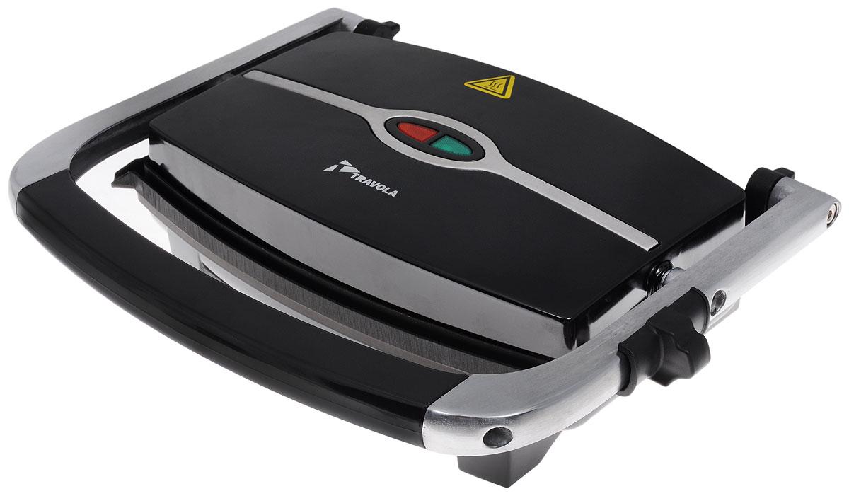 Travola SP-01 контактный грильSP-01Электрогриль Travola SP-01 предназначен для обжаривания продуктов и приготовления горячих бутербродов. Прибор оснащен индикатором готовности и питания. Антипригарное покрытие пластин обеспечивает их быструю и легкую чистку. Гриль имеет компактные размеры, поэтому его удобно хранить и брать с собой на дачу или в поездки. Световой индикатор работы Место для хранения шнура питания * Победитель номинации «Лучшая собственная торговая марка в сегменте ONLINE» Премия PRIVATE LABEL AWARDS (by IPLS) —международная премия в области собственных торговых марок, созданная компанией Reed Exhibitions в рамках выставки «Собственная Торговая Марка» (IPLS) 2016 с целью поощрения розничных сетей, а также производителей продовольственных и непродовольственных товаров за их вклад в развитие качественных товаров private label, которые способствуют росту уровня покупательского доверия в России и СНГ.
