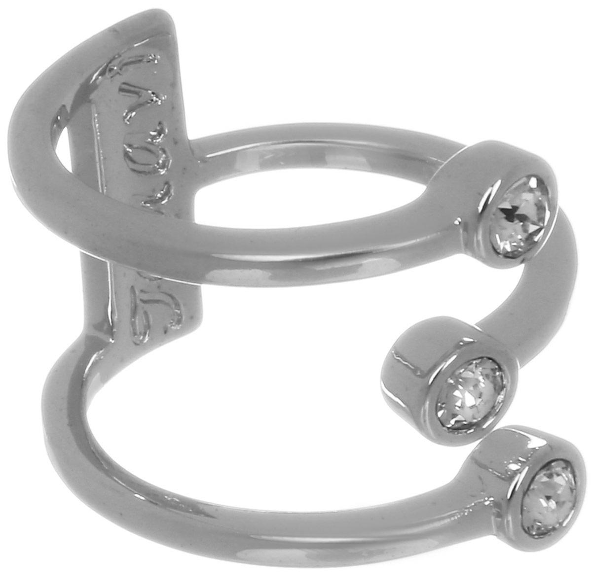 Jenavi, Коллекция Триада, Тримурти (Кольцо), цвет - серебряный, белый, размер - 16f696f000Коллекция Триада, Тримурти (Кольцо) гипоаллергенный ювелирный сплав,Серебрение c род. , вставка Кристаллы Swarovski , цвет - серебряный, белый, размер - 16