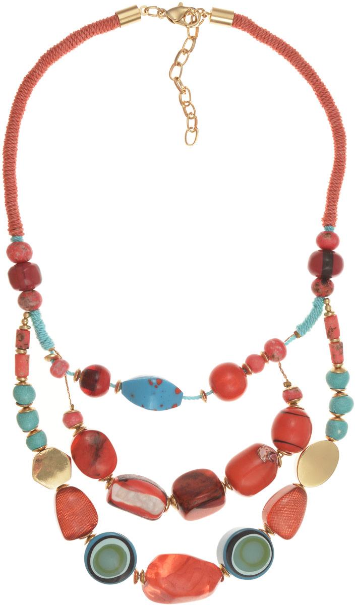 Колье Selena Vista Mara, цвет: бирюзовый, коралловый. 10100871 Selena Селена