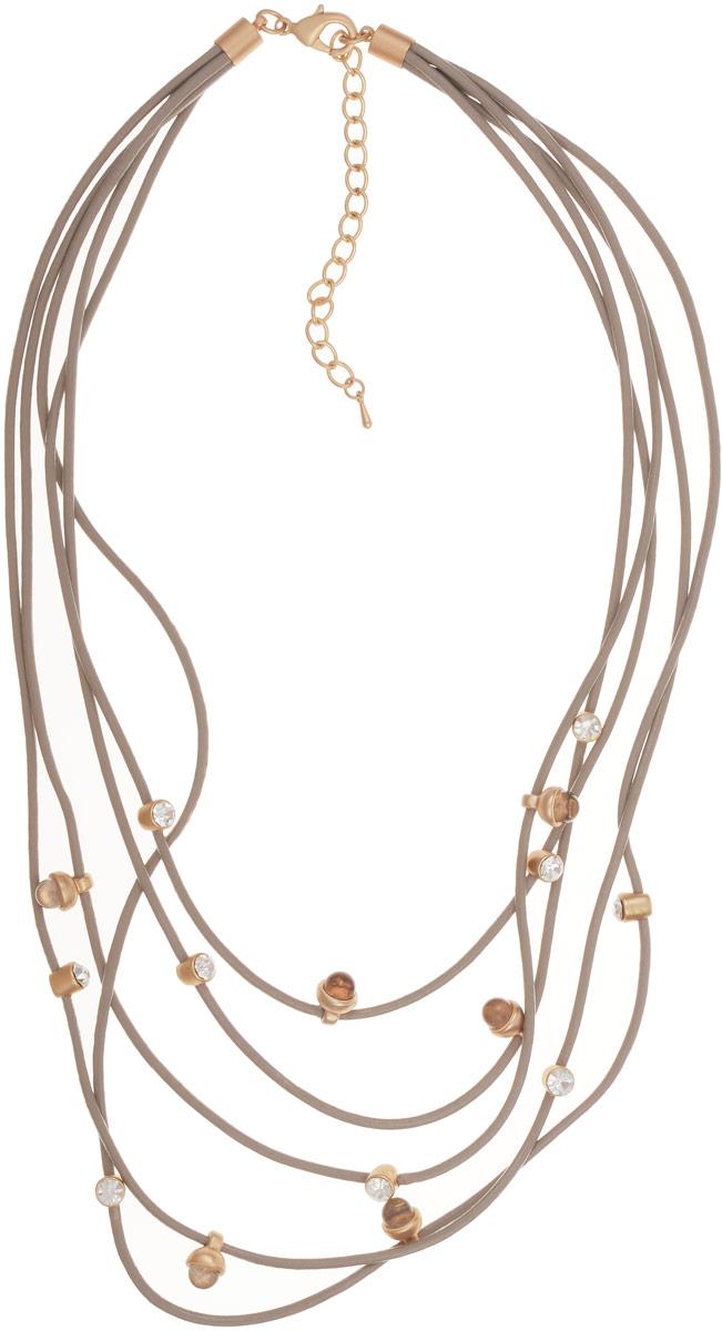 Selena Селена Колье Selena Street Fashion, цвет: бежевый, золотистый. 10101091
