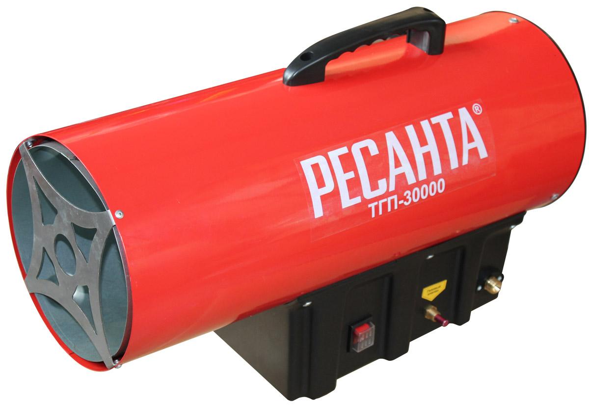 Ресанта ТГП-30000 тепловая газовая пушка67/1/15Мощность тепловая - 33 кВт Давление газа - 0,7 бар Расход топлива - 2,4 кг/час Защита от перегрева - 85 оС Напряжение сети - 220±10% В