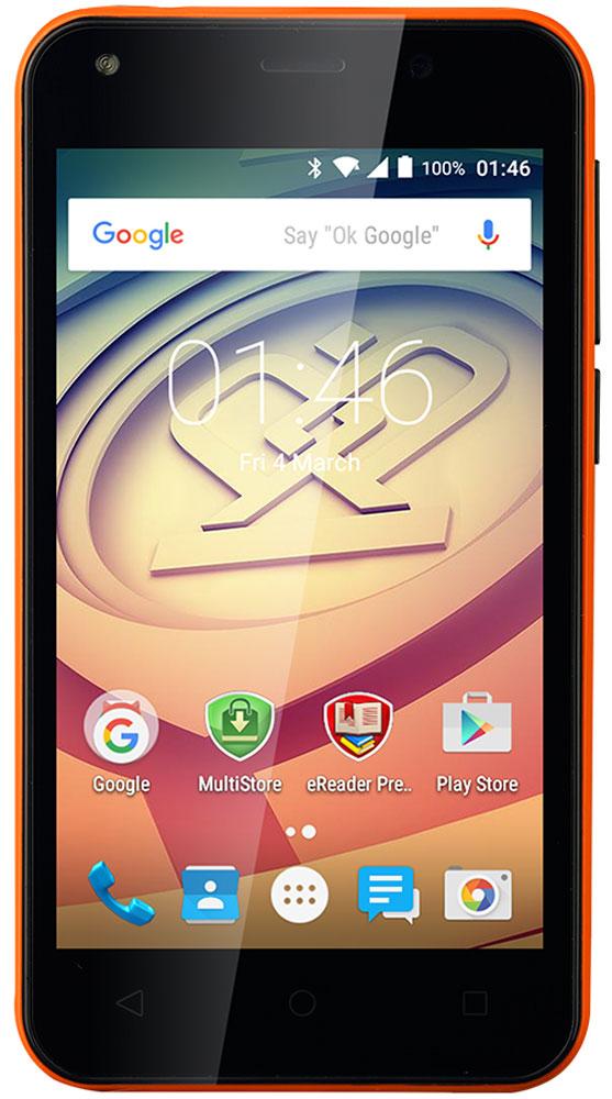Prestigio Wize L3, OrangePSP3403DUOORANGEЛетнее настроение - секретный компонент Wize L3. Он яркий, стильный и заметный! Достаточно мощный для повседневных задач, таких как просмотр, чтение, работа и игры, он доступный по цене, и благодаря поддержке двух SIM-карт поможет экономить деньги в течение всего периода использования смартфона. Просто наслаждайтесь собственным ритмом жизни и оставайтесь стильным! Wize L3 имеет удобный 4-дюймовый дисплей с живыми цветами. Наслаждайтесь играми и другими приложениями, читайте, работайте и отдыхайте с компактным устройством, которое легко помещается даже в небольшой карман. Больше не нужно справляться с огромным девайсом - все задачи решаются с помощью одной руки. Получайте лучший пользовательский опыт благодаря высокопроизводительному четырехъядерному процессору и умному Android 5.1. Lollipop. Увеличение скорости и мощности обеспечивают действительно плавную работу и хороший отклик. Серфите в интернете, работайте с документами и общайтесь с...