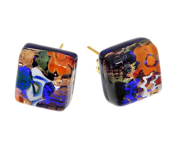 Серьги-пусеты Калейдоскоп. Муранское стекло, бижутерный сплав золотого тона, ручная работа. Murano, Италия (Венеция)r66530a6Серьги-пусеты Калейдоскоп. Муранское стекло, бижутерный сплав золотого тона, ручная работа. Murano, Италия (Венеция). Размер - 1 х 1 см. Каждое изделие из муранского стекла уникально и может незначительно отличаться от того, что вы видите на фотографии.