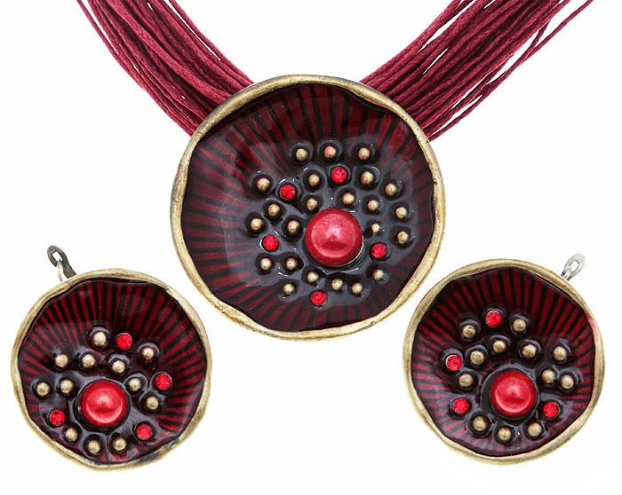 Комплект Созвездие: ожерелье и серьги. Текстиль, бижутерное стекло, цветная эмаль, гипоаллергенный ювелирный сплав. Lisa Lone, Испания356885Комплект Созвездие: ожерелье и серьги. Текстиль, бижутерное стекло, цветная эмаль, гипоаллергенный ювелирный сплав. Lisa Lone, Испания. Размер: Ожерелье - полная длина 48-56 см, регулируется за счет застежки-цепочки. Серьги - диаметр 3,5 см.