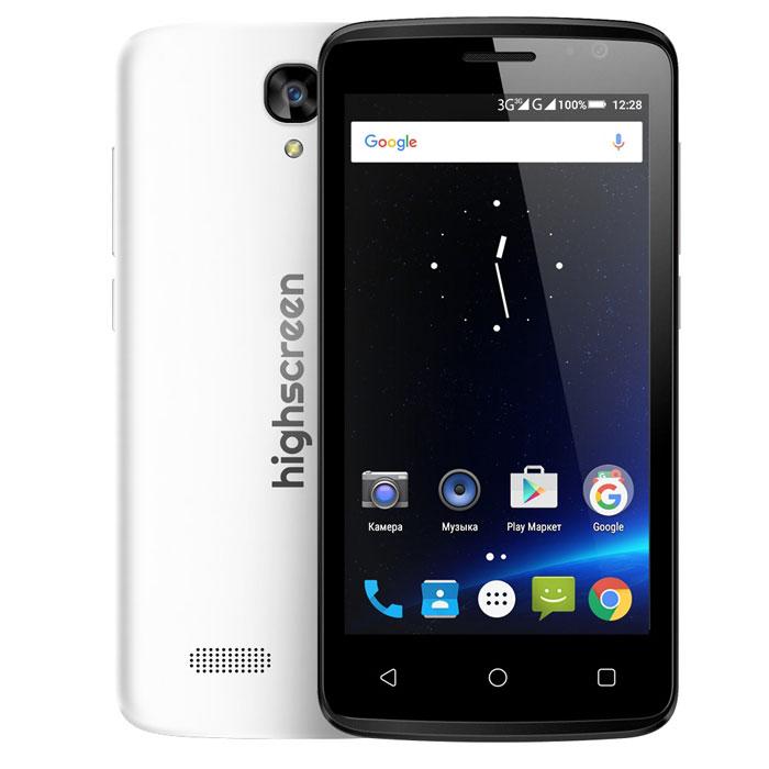 Highscreen Easy F, White23427HIghscreen Easy F - это первый и самый доступный смартфон новой линейки Easy. Матовый шероховатый корпус имеет идеальную эргономику и сбалансированные размеры для комфортного управления одной рукой. Если ты мечтаешь о смартфоне, но нет желания переплачивать - Easy F станет правильным выбором и позволит получить максимальный опыт от его использования. Правильному смартфону правильный android Highscreen Easy F работает на базе чистого Android Lollipop, производители преднамеренно не ставят дополнительные приложения и игры, что бы не занимать лишнюю память и дать свободу выбора. Сбалансированный и энергоэффективный процессор MT 6580 легко поможет с решением и выполнением повседневных задач. Доступно - не значит плохо Удобный дисплей 4.5, позволит насладиться четким и ярким изображением, испытай все переплести качественного экрана в твоем смартфоне! Две sim - карты разного размера Ты можешь легко перейти на Easy благодаря...