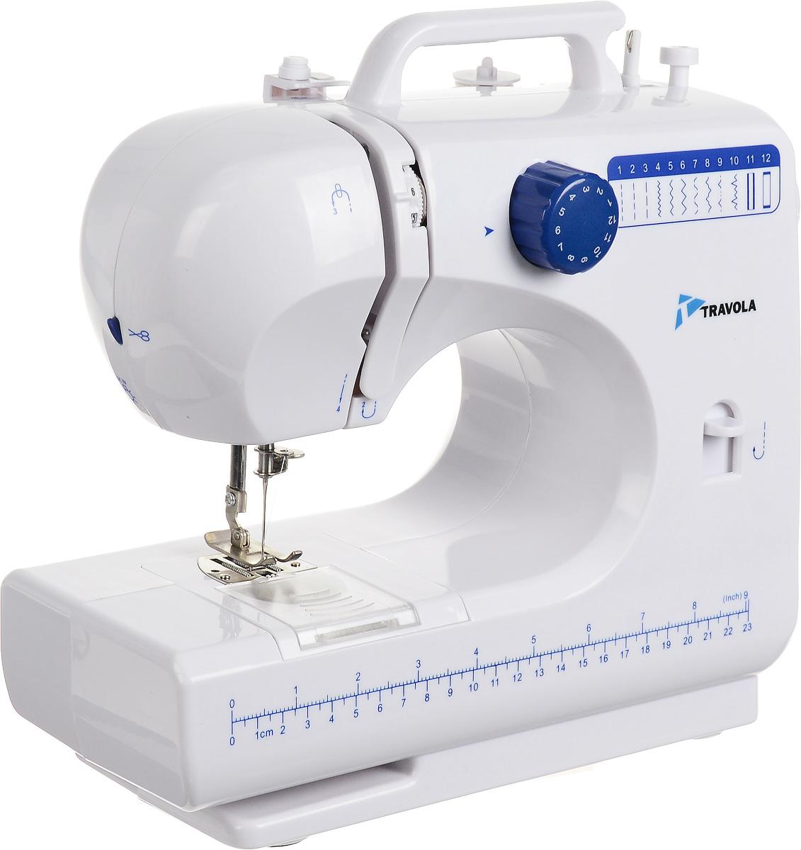 Travola 506 швейная машина506Машина Travola 506 идеально подходит для выполнения основных швейных операций при изготовлении и ремонте одежды. Эта надежная машина имеет традиционный набор функций, который необходим для шитья.