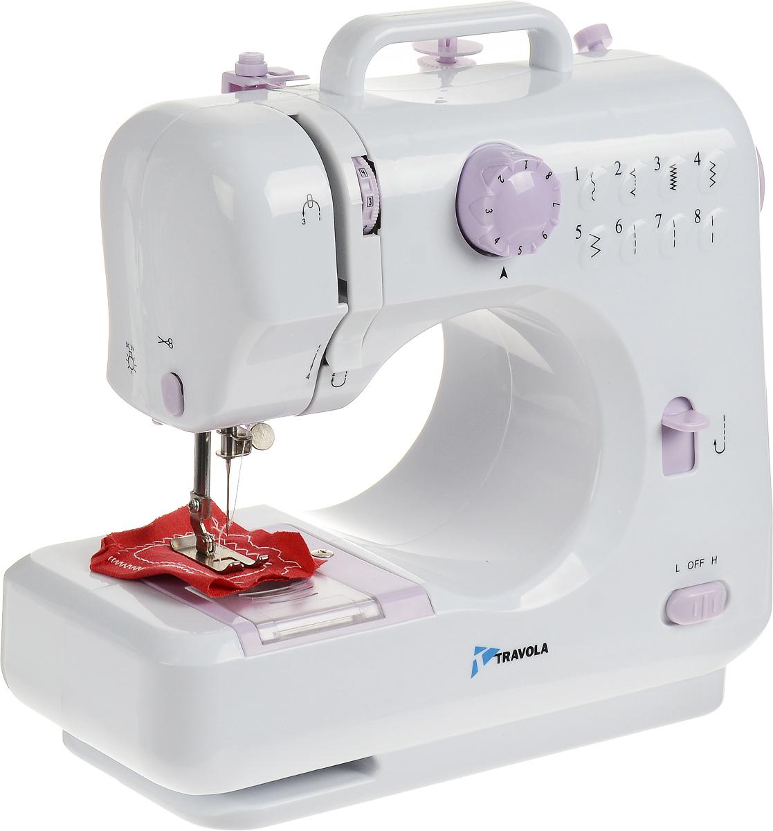 Travola 505 швейная машина505Швейная машина Travola 505 идеально подходит для выполнения основных швейных операций при изготовлении и ремонте одежды. Эта надежная машина имеет традиционный набор функций, который необходим для шитья. Устройство может выполнять 8 вариантов типа шва, из них 3 прямых, 3 зигзагообразных и 2 потайных. Данная модель проста в установке, настройке и эксплуатации.