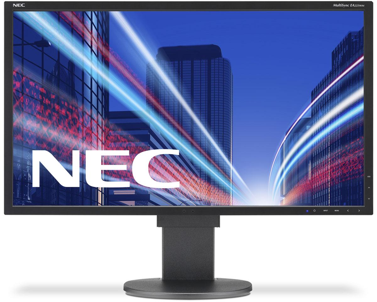 NEC EA223WM-BK, Black монитор60003294Модель NEC EA223WM отличается очень тонкой панелью со светодиодной подсветкой, поэтому данная модель обладает ультрасовременным дизайном в сочетании с превосходным набором характеристик для эксплуатации в офисе. Датчик рассеянного света и датчик присутствия проводят в жизнь концепцию защиты окружающей среды при сохранении улучшенных эргономических характеристик с механизмом регулировки высоты 130 мм. Кроме того, дисплей предлагает широкие возможности соединения благодаря трем входам DisplayPort, DVID и D-Sub. Датчик рассеянного света – благодаря функции автоматической яркости Auto Brightness всегда можно оптимизировать уровень яркости в зависимости от освещения и условий изображения. Эргономические характеристики – регулировка по высоте (130 мм), функция наклона и плоский режим обеспечивают идеальную возможность индивидуальной эргономичной настройки. Идеальный набор функциональных возможностей для офисной эксплуатации – встроенные динамики,...