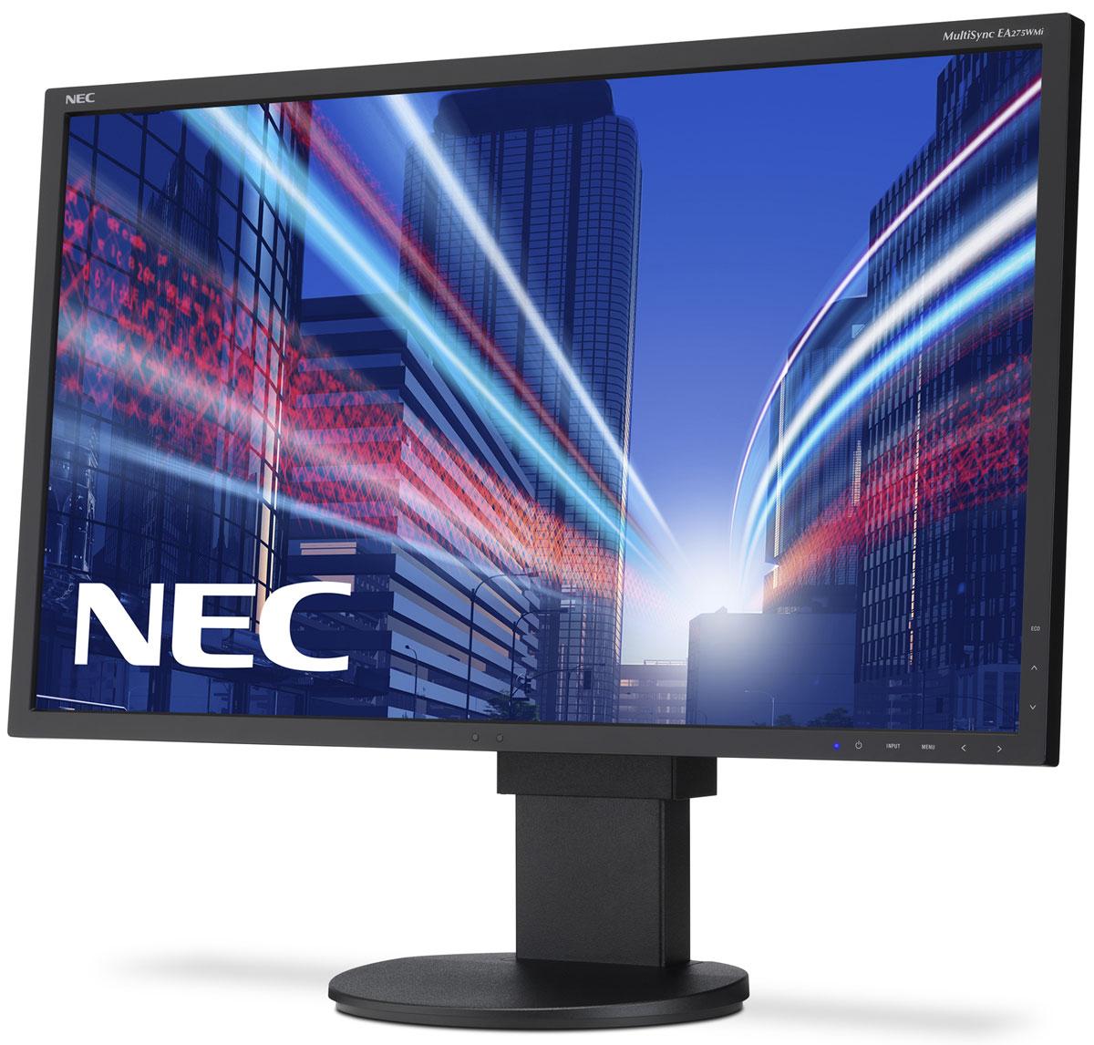 NEC EA275WMi, Black монитор60003813Модель NEC EA275WMi обладает очень тонкой 27 IPS-панелью со светодиодной подсветкой и разрешением 2560 x 1440, что обеспечивает ультрасовременный и тонкий дизайн. Датчик рассеянного света и датчик присутствия являются стандартными характеристиками данной модели, кроме того, модель обладает улучшенными эргономическими характеристиками, например, механизмом регулирования высоты до 130 мм. Эргономическое исполнение данного дисплея дополняется отличным качеством изображения. Дисплей также располагает перспективными возможностями соединения с 4 коннекторами: DisplayPort, HDMI и выходом DisplayPort. Идеальный набор функциональных возможностей для офисной эксплуатации - встроенные динамики, гнездо для подключения наушников и USB-хаб обеспечивают отличные опции для офисной коммуникации. Датчик рассеянного света - благодаря функции автоматической яркости Auto Brightness всегда можно оптимизировать уровень яркости в зависимости от освещения и условий...