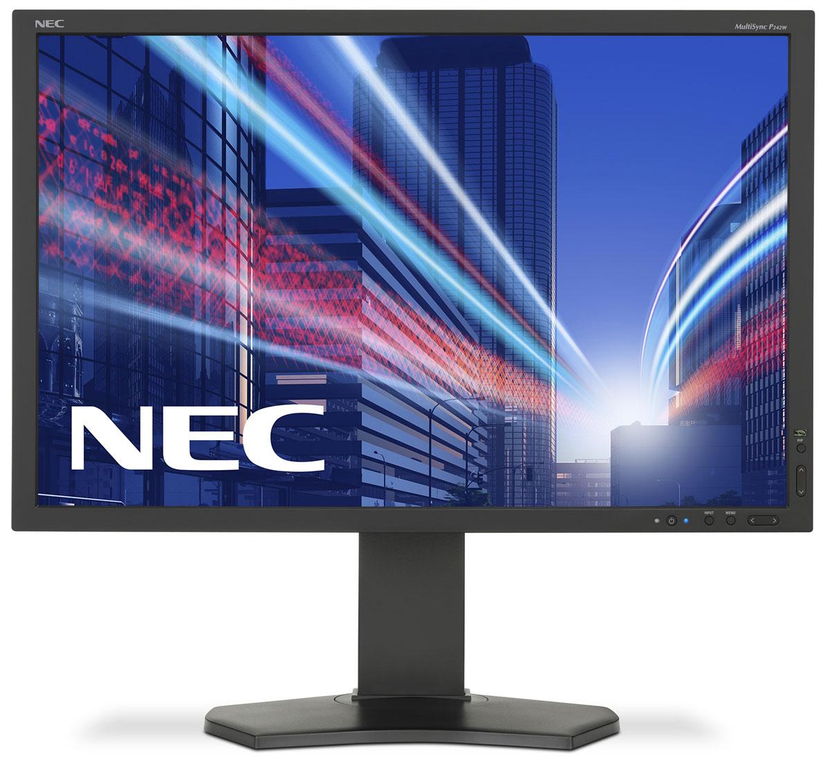 NEC P242W, Black монитор60003419Модель NEC P242W предлагает великолепное изображение и отличные эргономические характеристики для возможности использования профессиональных приложений. Устройство регулирования по высоте (15 см), современный DisplayPort-коннектор, функция Digital Uniformity Control, интегрированный USB-хаб и функция картинка в картинке предоставляет пользователям гибкость и качество изображения, необходимые для обеспечения высокого уровня производительности персонала. Идеальный дисплей для профессионального дизайна, CAD-CAM, финансовой сферы, офисных и промышленных приложений (например, NDT). Эргономические характеристики – регулировка по высоте (150 мм), функция наклона и плоский режим обеспечивают идеальную возможность индивидуальной эргономичной настройки. Уникальные функции – функция равномерного распределения яркости по всей поверхности экрана (Digital Uniformity Control), картинка в картинке, USB-хаб, эмуляция цветового пространства с помощью 3D...