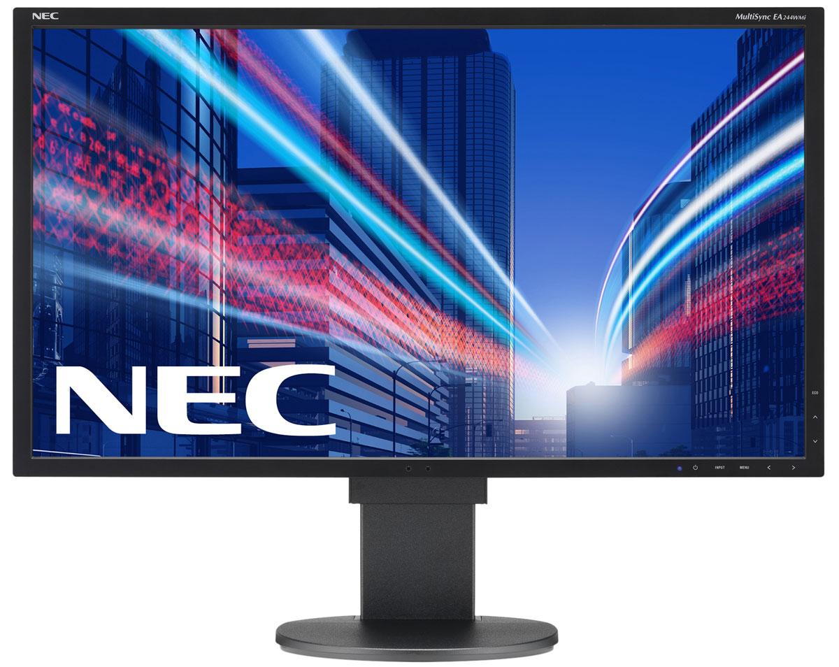 NEC EA244WMi-BK, Black монитор60003414Модель NEC EA244WMi обладает очень тонкой панелью со светодиодной подсветкой и IPS-технологией, что обеспечивает ультрасовременный и ультратонкий дизайн в сочетании с характеристиками, идеальными для корпоративного офисного использования. Датчик рассеянного света и датчик присутствия являются стандартными характеристиками данной модели, кроме того, модель обладает улучшенными эргономическими характеристиками, например, механизмом регулирования высоты до 130 мм. Дисплей также располагает широкими возможностями соединения: DisplayPort, HDMI, DVID и D-Sub. Идеальный набор функциональных возможностей для офисной эксплуатации – встроенные динамики, гнездо для подключения наушников и USB-хаб обеспечивают отличные опции для офисной коммуникации. Датчик рассеянного света – благодаря функции автоматической яркости Auto Brightness всегда можно оптимизировать уровень яркости в зависимости от освещения и условий изображения. Датчик присутствия...