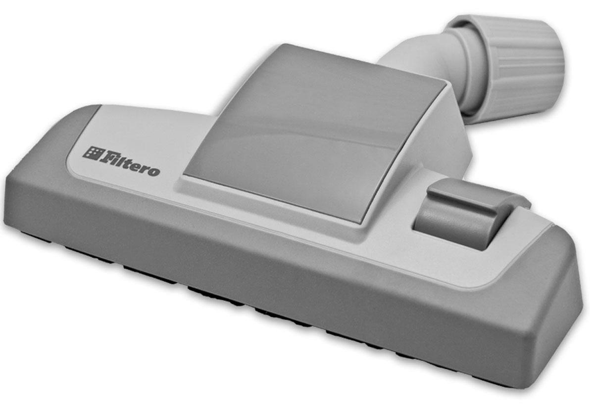 Filtero FTN 16 универсальная насадка для пылесосаFTN 16Комбинированная насадка Filtero FTN 16 пол-ковер с прорезиненным корпусом и колесиками, с шириной рабочей зоны 26 см. Оснащена универсальным зажимом, который обеспечивает возможность использования насадки с большинством пылесосов известных марок, с диаметром удлинительной трубки 30-37 мм. Насадка Filtero FTN 16 с удобным переключателем пол-ковер позволяет производить уборку любых напольных покрытий. Наличие колесиков предотвращает появление царапин на жестких полах и обеспечивает плавный ход на мягких покрытиях. Прорезиненный корпус защищает ножки мебели от повреждений. Посадочный диаметр: от 30 до 37 мм