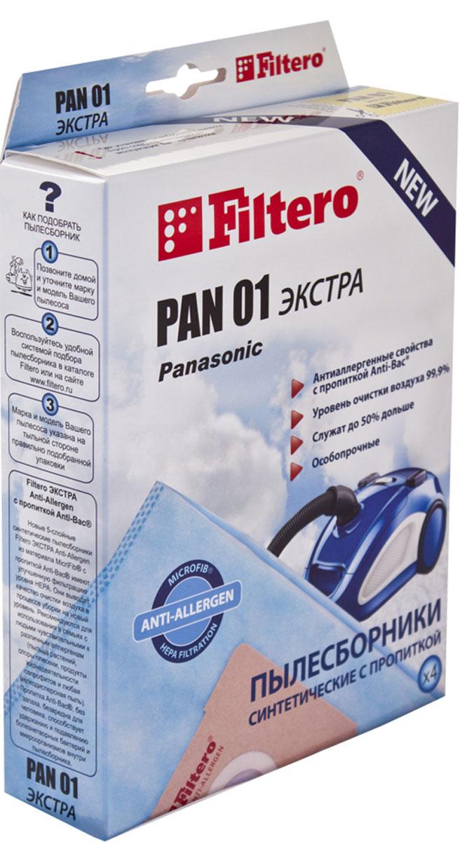Filtero Pan 01 Экстра комплект пылесборников, 4 штPAN 01 (4) ЭКСТРАМешки-пылесборники Filtero Pan 01 Экстра произведены из синтетического микроволокна MicroFib с антибактериальной пропиткой Anti-Bac. Очень прочные, они не боятся острых предметов и влаги, собирают больше пыли (до 50%) и обеспечивают уровень очистки воздуха 99,9%, а также задерживают бактерии и препятствуют их распространению. При этом мощность всасывания пылесоса сохраняется в течение всего периода службы пылесборника. Подходят для следующих моделей пылесосов: Panasonic: MC-E 60 - MC-E 69 MC-E 70 - MC-E 79 MC-E 80 - MC-E 89 MC-E 650 - MC-E 659 MC-E 735 - MC-E 799 например: MC-E 747 MC-E 850 - MC-E 869 MC-E 7000 - MC-E 7399 например: MC-E 7002 MC-E 7303 MC-E 9001, MC-E 9003 MC 81 - MC 89 например: MC 86 MC 650 - MC 659 MC 850 - MC 859 MC 7000 - MC 7140 MC-CG 461 - MC-CG 469 например: MC-CG 467 ZR 79 MC-CG 661- MC-CG 679 например: MC-CG 663 ZR 79 MC-CG...