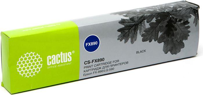 Cactus CS-FX890, Black картридж ленточный для Epson FX-890/LQ-590