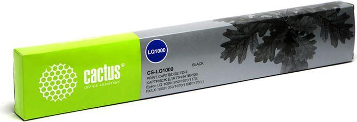Cactus CS-LQ1000, Black картридж ленточный для Epson LQ-1000/1050/1070/1170/FX/LX-1000/1050/1070/1150/1170CS-LQ1000Картридж ленточный Cactus CS-LQ1000 для матричных принтеров Epson LQ-1000/1050/1070/1170/FX/LX-1000/1050/1070/1150/1170. Расходные материалы Cactus для печати максимизируют характеристики принтера. Они обеспечивают повышенную четкость изображения и надежное качество печати.