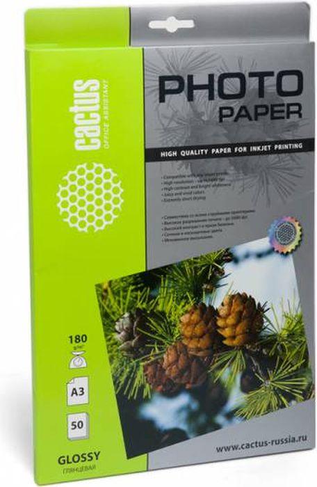 Cactus CS-GA318050 A3/180г/м2 глянцевая фотобумага для струйной печати (50 листов)