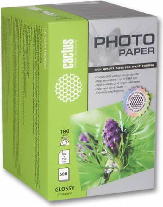 Cactus CS-GA6180500/180г/м2 глянцевая фотобумага для струйной печати (500 листов)