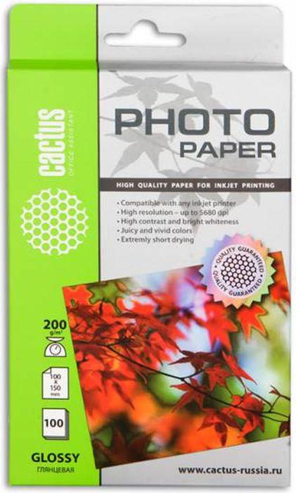 Cactus CS-GA6200100 A6/200г/м2 глянцевая фотобумага для струйной печати (100 листов)