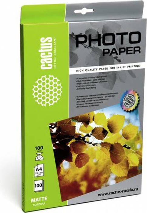 Cactus CS-MA4100100 A4/100г/м2 матовая фотобумага для струйной печати (100 листов)CS-MA4100100Фотобумага Cactus CS-MA4100100 с матовым покрытием для струйной печати. Наслаждайтесь лучшими мгновениями вашей жизни в сочных и насыщенных цветах. Представляйте яркие и красочные презентации. Создавайте отпечатки высочайшего качества. Фотобумага Cactus совместима со струйными принтерами Hewlett Packard, Canon, Epson и другими марками. Высококлассное покрытие фотобумаги Cactus позволяет добиться максимально точной цветопередачи при печати фотографий и графики.