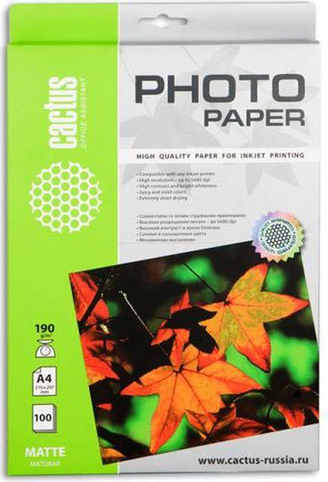 Cactus CS-MA4190100 A4/190г/м2 матовая фотобумага для струйной печати (100 листов)