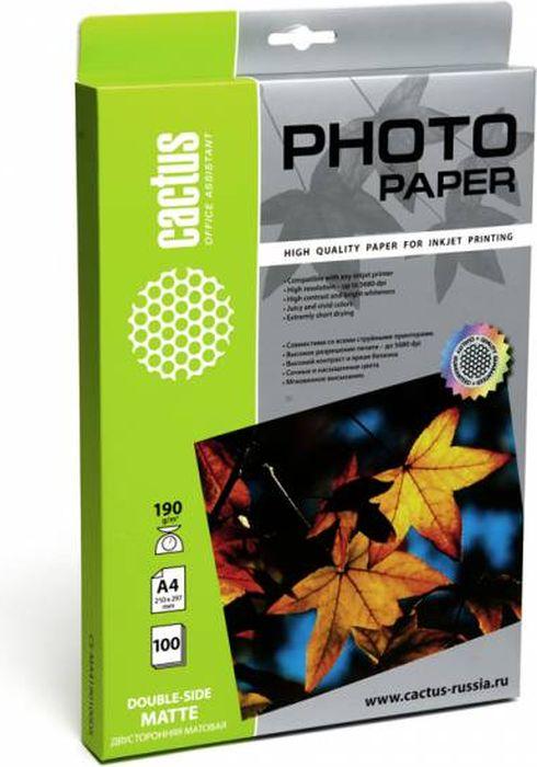 Cactus CS-MA4190100DS A4/190г/м2 фотобумага для струйной печати (100 листов)