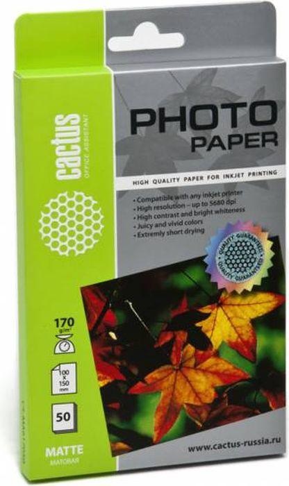 Cactus CS-MA617050 10x15/170г/м2 матовая фотобумага для струйной печати (50 листов)