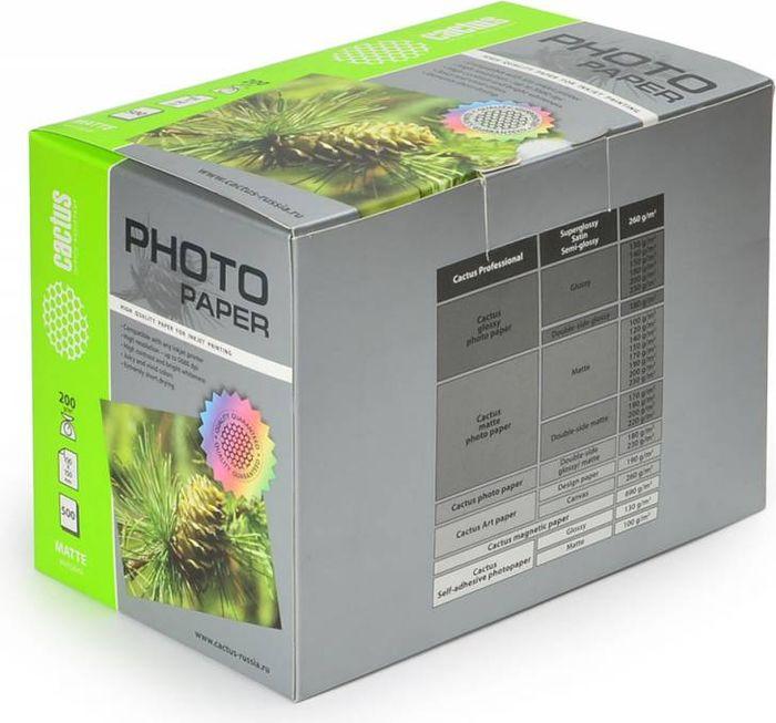 Cactus CS-MA6200500 10x15/200г/м2 матовая фотобумага для струйной печати (500 листов)