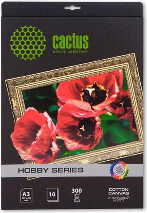 Cactus CS-СA326010 A3/300г/м2 холст для струйной печати (10 листов)CS-СA326010Хлопковый холст Cactus CS-СA326010 для струйной печати. Арт-бумага Cactus позволит вам воплотить самые смелые идеи и вдохновенные идеи для творчества и бизнеса. Специальное тиснение превратит в произведение искусства даже обычный текст и станет изысканным штрихом, дополняющим фирменный стиль и имидж ваших отпечатков. Совместимость со струйными принтерами Hewlett-Packard, Canon, Epson и другими марками.
