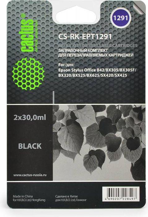 Cactus CS-RK-EPT1291, Black чернила для заправки ПЗК для Epson Stylus Office B42