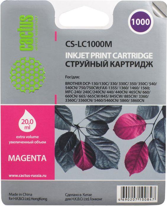 Cactus CS-LC1000M, Magenta картридж струйный для Brother DCP 130C/330С/MFC-240C/5460CN
