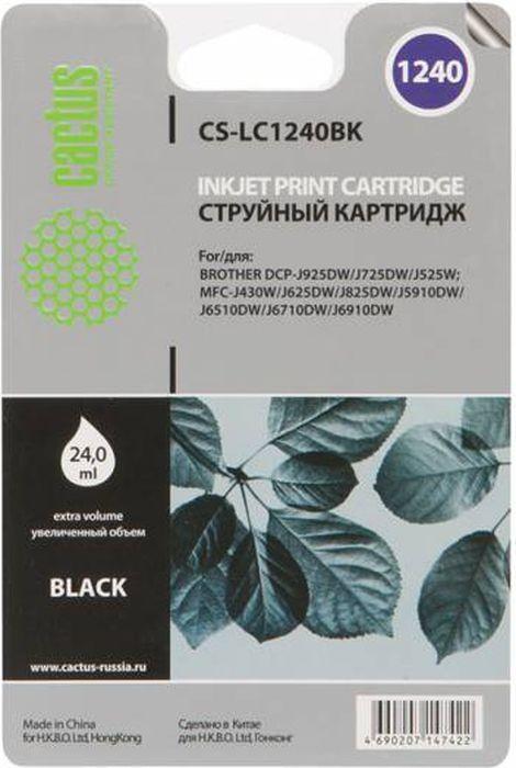 Cactus CS-LC1240XBK, Black картридж струйный для Brother MFC-J6510/6910DW
