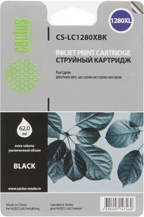 Cactus CS-LC1280XBK, Black картридж струйный для Brother MFC-J6510/6910DW