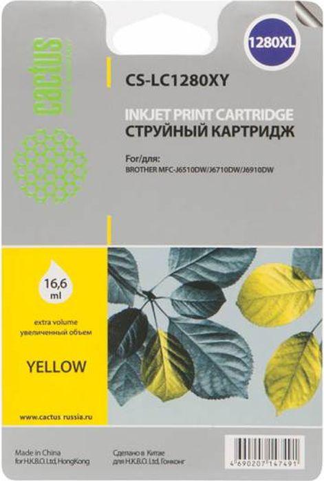 Cactus CS-LC1280XY, Yellow картридж струйный для Brother MFC-J6510/6910DW